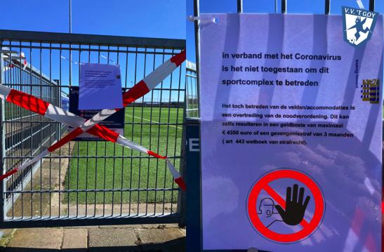 Corona en gebruik voetbalvelden
