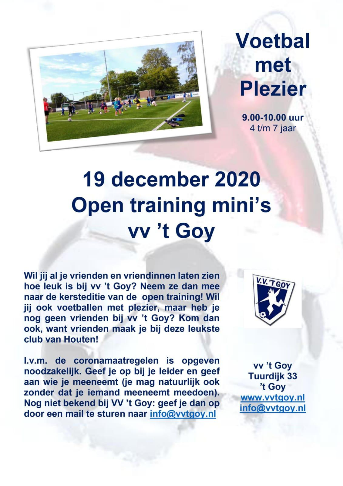 Open training mini's V.V. 't Goy