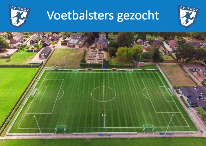 Sportieve voetbalmeiden gezocht